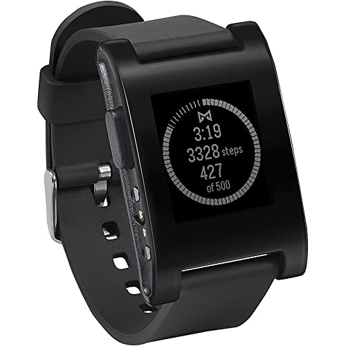 Pebble Smartwatch für iPhone and Android (schwarz)