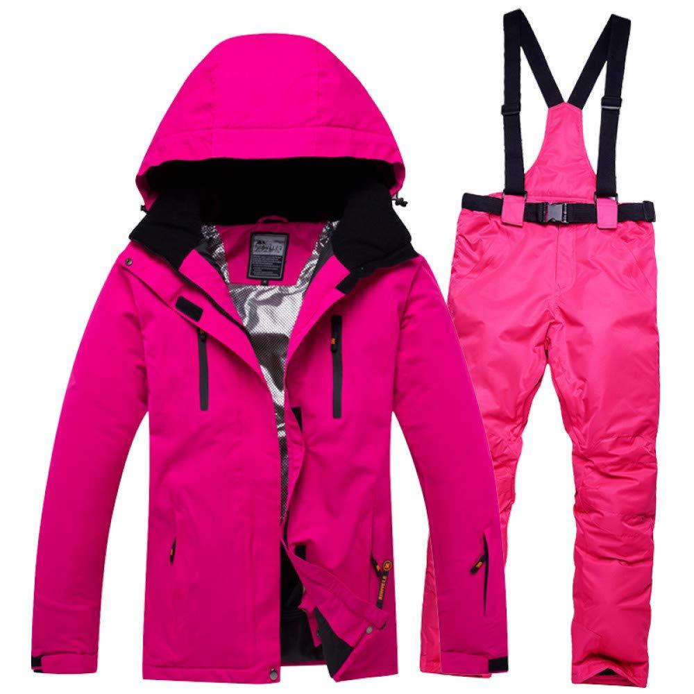 ZXGJHXF Combinaison Ski + Homme + Femme + Pantalon Isolation Imperméable Coton Pad Snowboard Couleur9 M