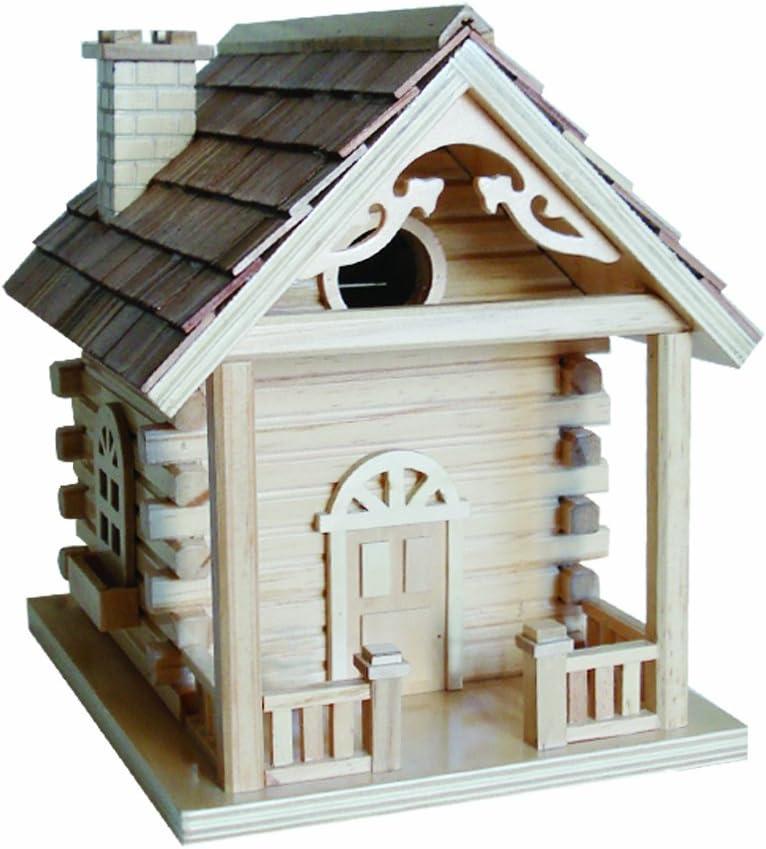 Home Bazaar Cabin Birdhouse, Natural