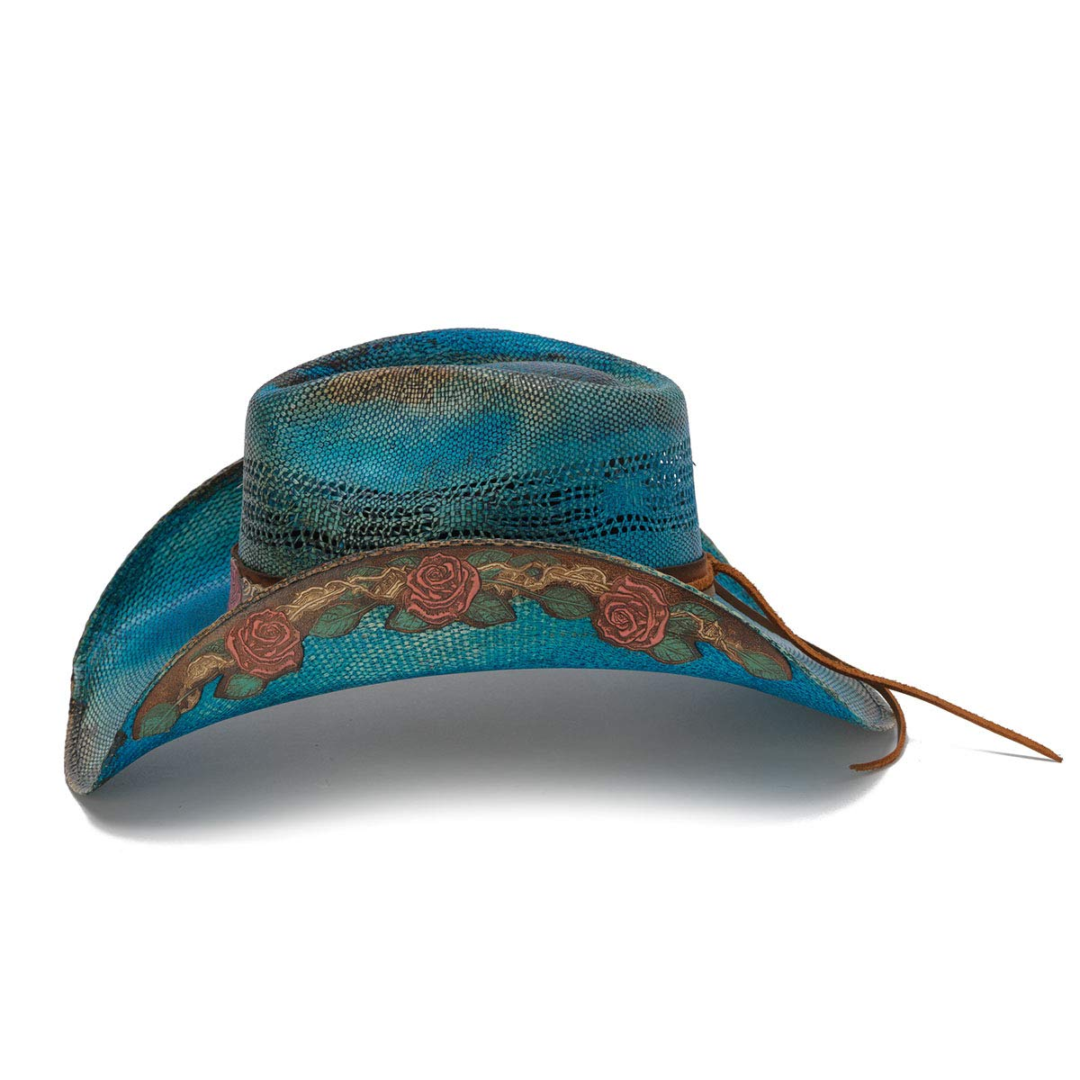 Stampede Hats Women's Love Story Rose Straw Western Hat M Blue by Stampede Hats (Image #3)