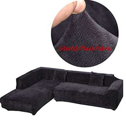 Amazon Com Taiyucover Warm Plush L Shaped Sofa Covers Stretch L