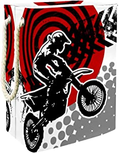 Unicey Motocross Motorbike Athlete Laundry Hamper Collapsible Basket for Storage Bin Baby Hamper