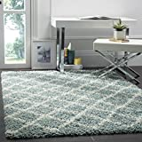 """Safavieh SGD258C-5 Dallas Shag Collection and Ivory Area Rug, 5'1"""" x 7'6"""", Seafoam offers"""