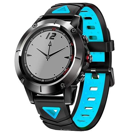 LAMGTON GPS Reloj Inteligente Hombres IP68 Impermeable Monitor de Ritmo Cardíaco Bluetooth Reloj de Pulsera Deportes