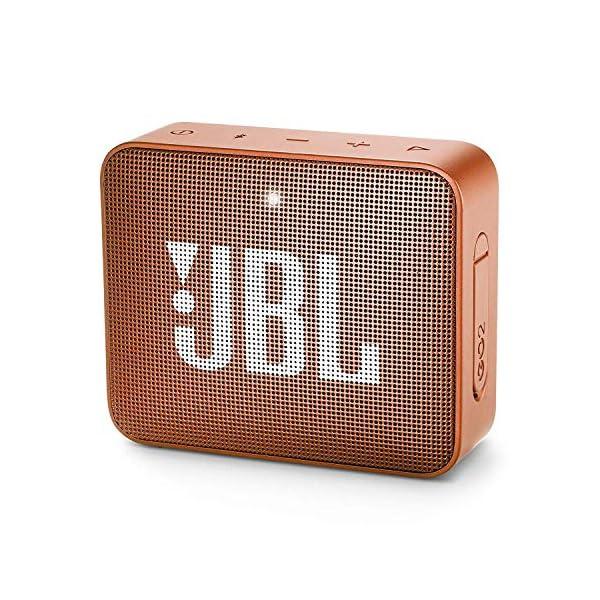 JBL Go 2 - Mini enceinte Bluetooth Portable - Étanche pour Piscine & Plage Ipx7 - Autonomie 5hrs - Qualité Audio JBL - Orange 1