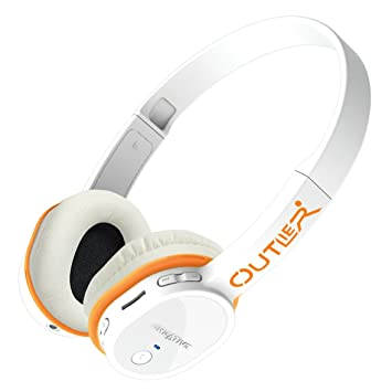 a08829120e4 Creative Outlier Wireless On-Ear Headphones with Integrated MP3 Player -  White