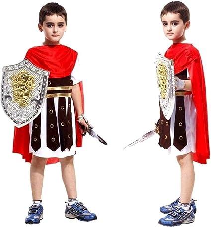 Ragazzi Costume da Centurione Romano Gladiatore Bambino Kids Costume Costume Libro Day