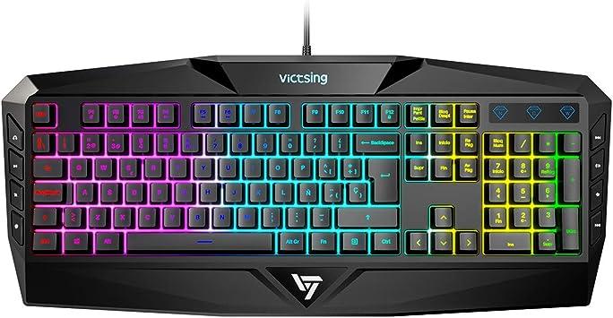 VicTsing Teclado Gaming RGB Alambrico Teclado USB (Black): Amazon.es: Electrónica