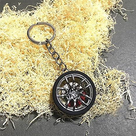 Sunsbell Llavero de la rueda de coche, ruedas de coches números Turbo llavero llavero de