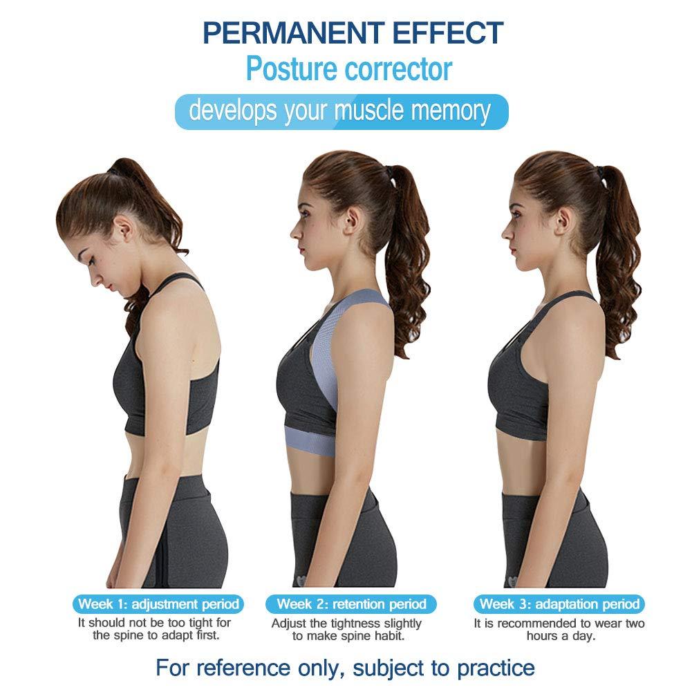 Back back posture corrector adjustable shoulder brace support for improve bad posture spinal support