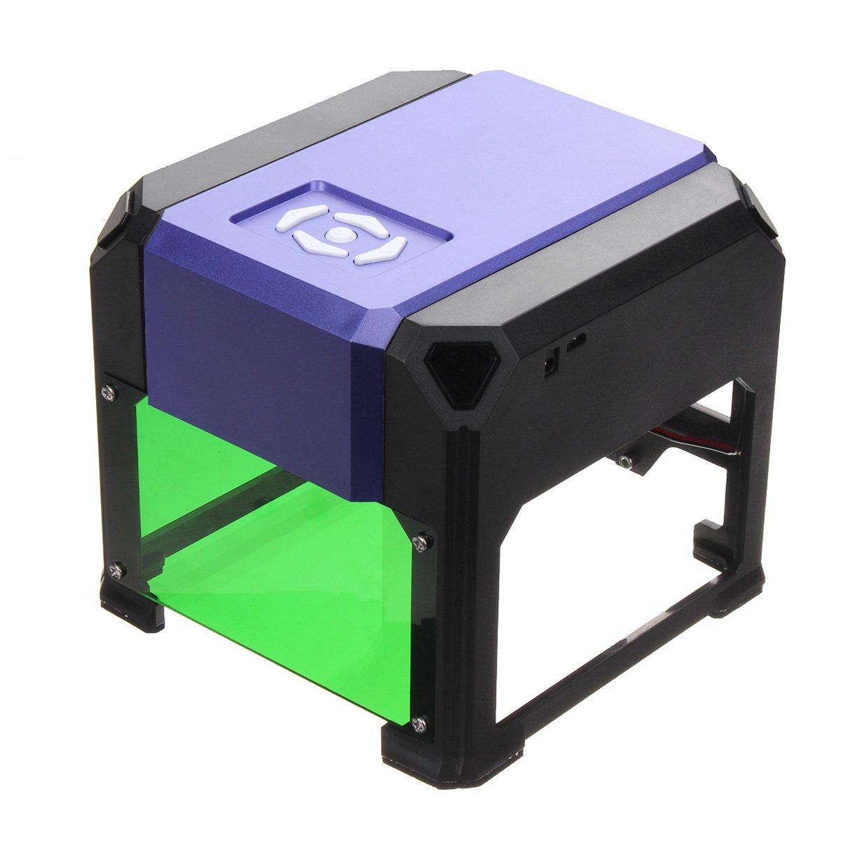 Purple 1500mW Mini Laser Engraver Printer DIY Logo Marking USB Engraving Machine 8x8cm