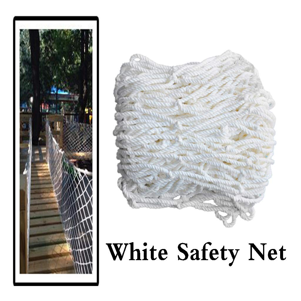 Outdoor White Safety Protective Net Kids Cat Pet Dog Decoration Fence Climbing Woven Rope Truck Cargo Trailer Netting Mesh Rail Balcony Banister Stair Playground Yard Stadium (Size : 4x10m) by BHH-protection net