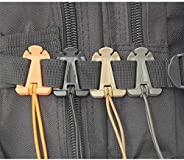 Sweetfun Molle Gear Clip Web Dominators for Outdoor Backpack Straps Management Set of 4