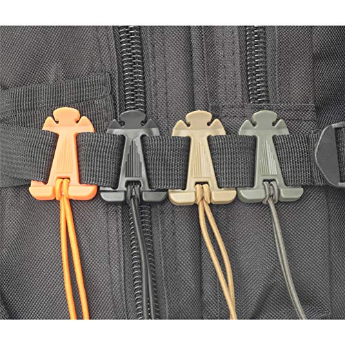 SWEETFUN Tactical Gear Clip Molle Web Dominators for Outdoor Hydration Tube Backpack Straps Management 10 Pack Coyote