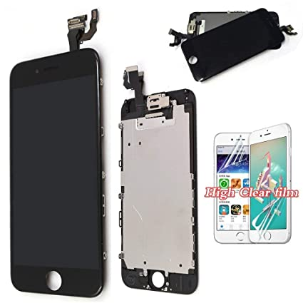 finest selection c9a3d 66c6a recyco Compatible Screen Replacement for iPhone 6 4.7 LCD New Display +  Speaker Front Camera Proximity Sensor Digitizer Assembly Black