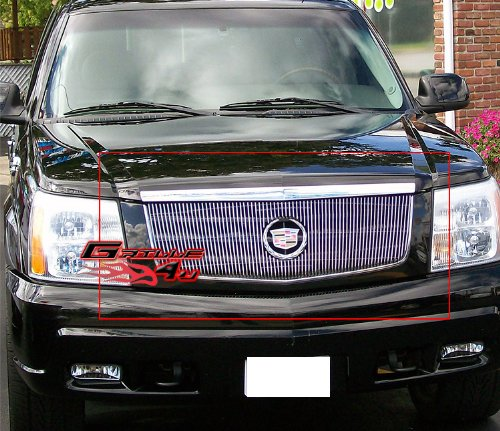 Cadillac Escalade Billet Grill (APS A65770V Polished Grille Bolt Over for select Cadillac Escalade Models)