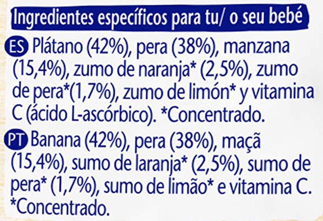 Nestlé Bolsita de puré de frutas, variedad 4 Frutas - Para bebés a partir de 4 meses - Paquete de 16 bolsitasx90g: Amazon.es: Alimentación y bebidas