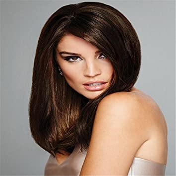 Luxurious Silk Base Full Lace Wigs Straight Brazilian Remy Human Hair For Black Women Natural Color