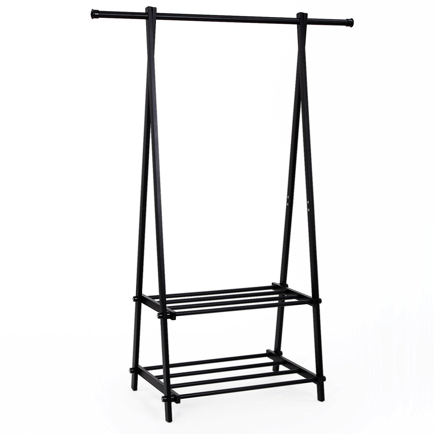 SONGMICS Clothing Garment Rack with 2-Tire Shelf for Shoes Clothes Storage Black URCR22B by SONGMICS (Image #1)