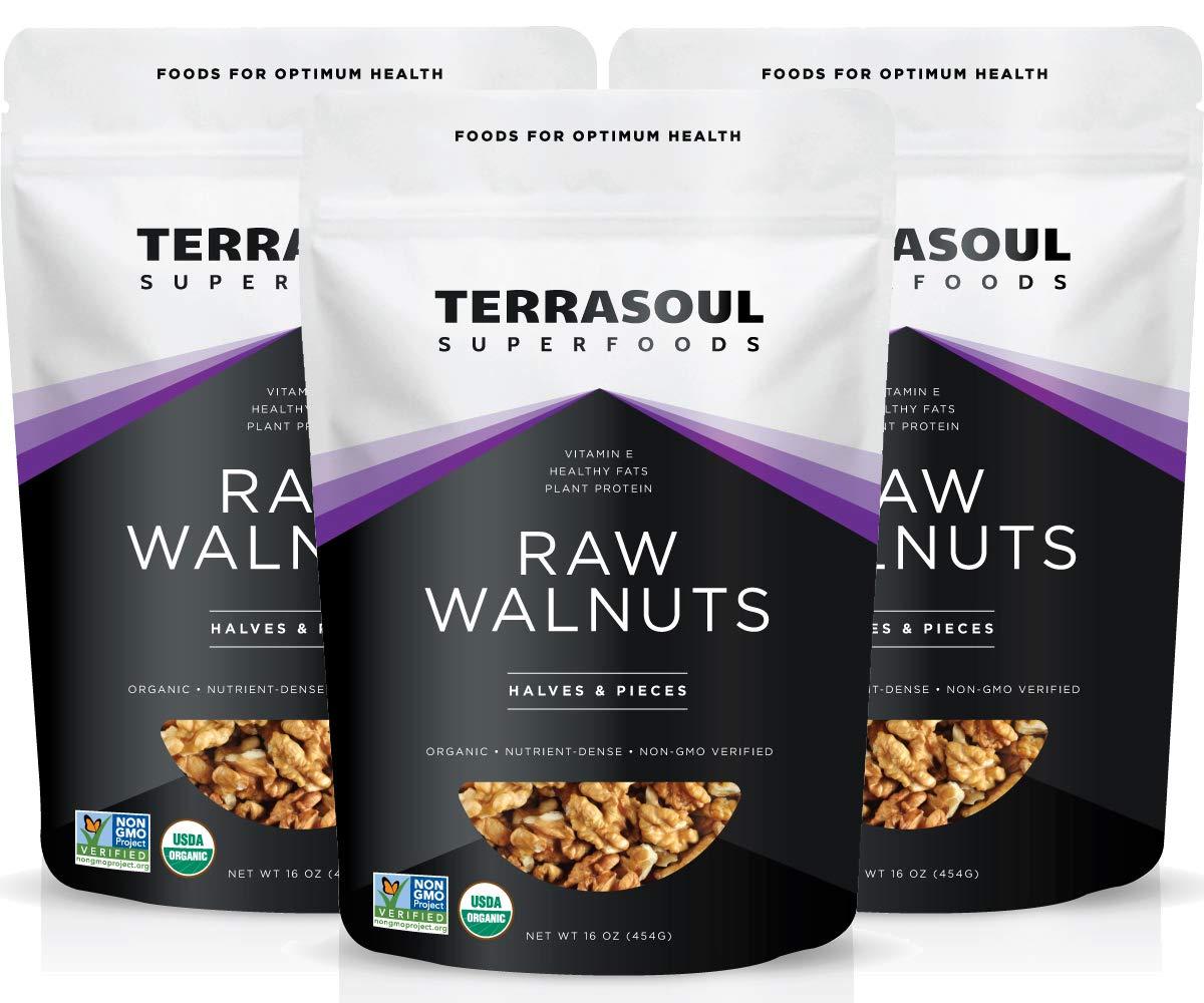 Terrasoul Superfoods Organic Raw Walnuts, 3 Pounds by Terrasoul Superfoods