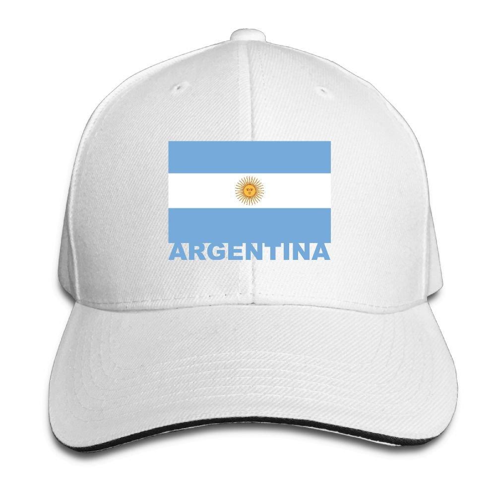ee2e02c1e3a PB-ZINAN Adult Vintage Argentina Flag Snapback Hat Dad Hat Black Sandwich  Peaked Cap White at Amazon Men s Clothing store