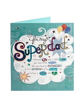 Amazon Super Dad Birthday Card Hanamade Kitchen Dining