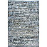 Earth First Jeans Rug, 8-Feet by 10-Feet, Blue