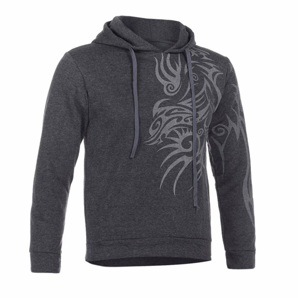 Elecenty Herren Kapuzenpullover Hoodie Sweatshirt mit Print aus Männer Strickpullover Plaid Kapuzenjacke mit Kapuze Tops Mantel Outwear Elecenty--24