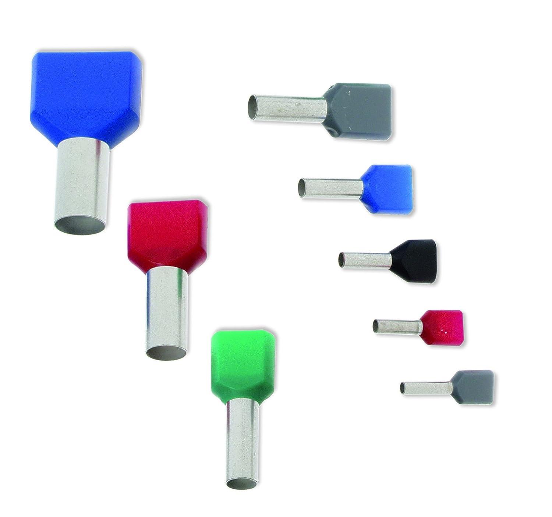 300tlg Sortiment Aderendhülse 0,5-16mm² Einzeln Twin Kabel Kabelschuhzange
