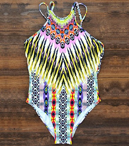 Traje de baño de las señoras Moda traje de baño de impresión rayas correas siamés bikini playa traje de baño traje de baño de spa Bikini Burst