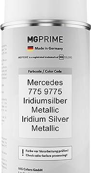 Mg Prime Autolack Sprühdosen Set Für Mercedes 775 9775 Iridiumsilber Metallic Iridium Silver Metallic Basislack Klarlack Spraydose 400ml Auto