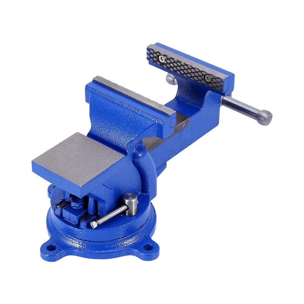 100 mm de ancho tornillo de banco giratorio Tornillo de banco con mordazas protectoras//tornillo de banco macizo de hierro fundido