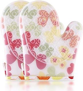 Isolation plus gants de silicone en coton Microwave gants de protection contre la chaleur Cuisine gants de cuisson haute température Steamer épaississement anti-brûlure gants de four gants en tissu de silicone Gymnastique