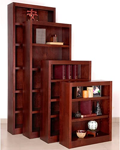 Midas Five Shelf Bookcase 72″H Cherry Finish