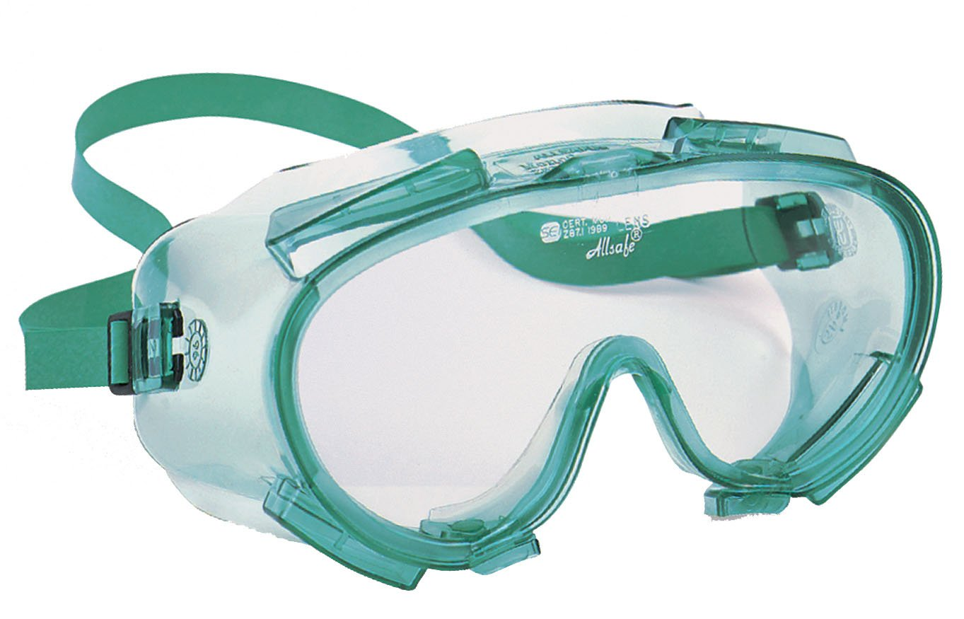 Jackson Safety 14384 V80 Monogoggle 211 Safety Goggles, Clear Lens with Green Frame (Pack of 36)