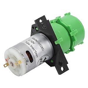 Mxzzand Food-Grade Silicone Durable Liquid Water Pump Dosing Pump Peristaltic Pump for Various Environments(DC12V)