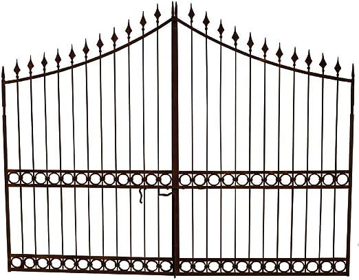 Biscottini - Puerta de hierro macizo, 350 x 4 x 288 cm: Amazon.es: Jardín