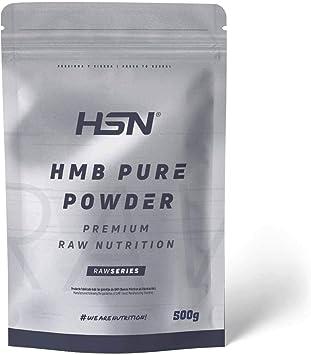 HMB Puro de HSN | Para Ganar Masa Muscular, Anticatabólico, Mejora el Rendimiento Deportivo | Vegano, Sin Gluten, Sin Lactosa, En Polvo, 500 gr