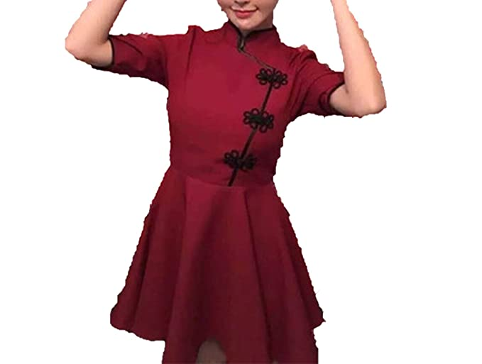 198f8c4ec Good-memories dress Japanese Harajuku Vintage Gothic Lolita Black Red Slim  Chinese Style Cheongsam Dress, Black, One Size at Amazon Women's Clothing  store:
