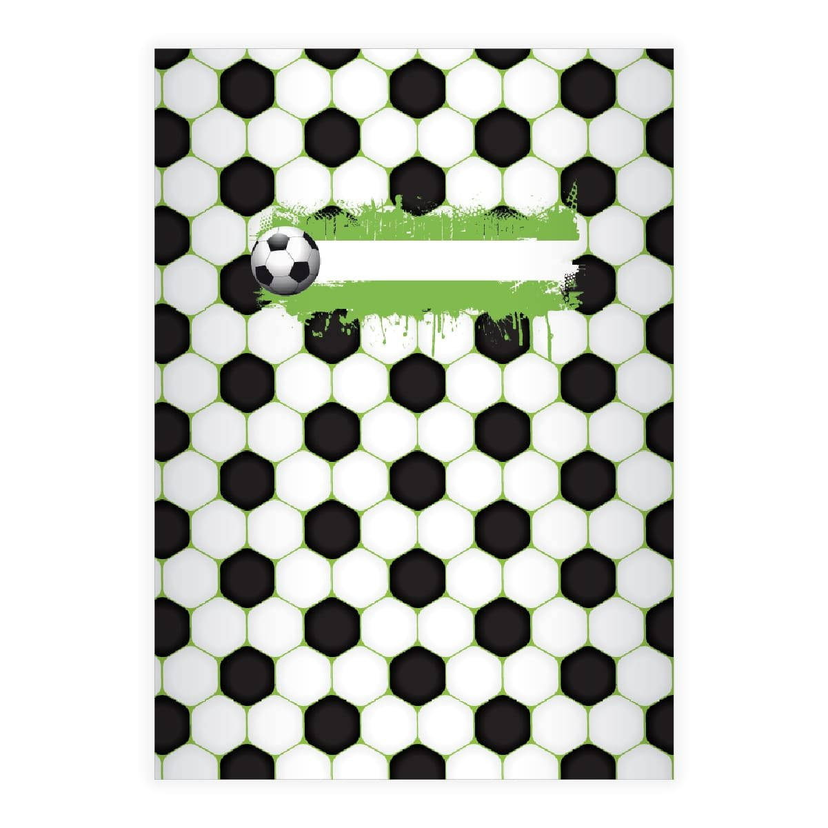 1 Coole Fußball Musters DIN A4 Schulheft, Rechenhefte für Fußball Fans Lineatur 28 (kariertes Heft) Kartenkaufrausch