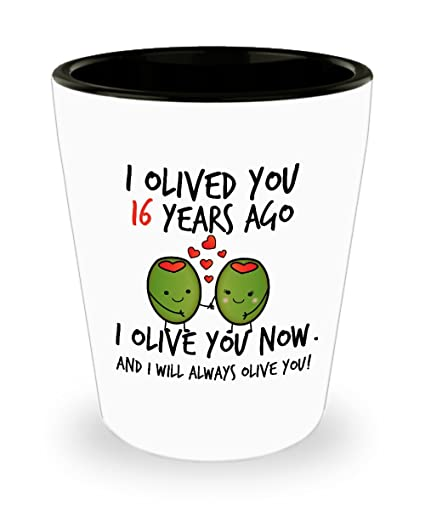 Amazon 16th Wedding Anniversary Gifts For Him I Olived You