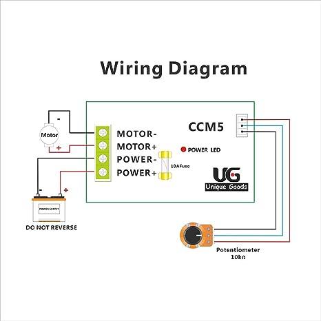 uniquegoods 12v 24v 30v 5a dc motor sd controller adjustable     on