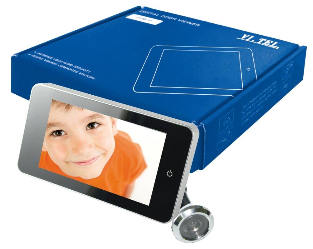 TELESE Digital Door Viewer–Pack of 1, Silver, E0378–12