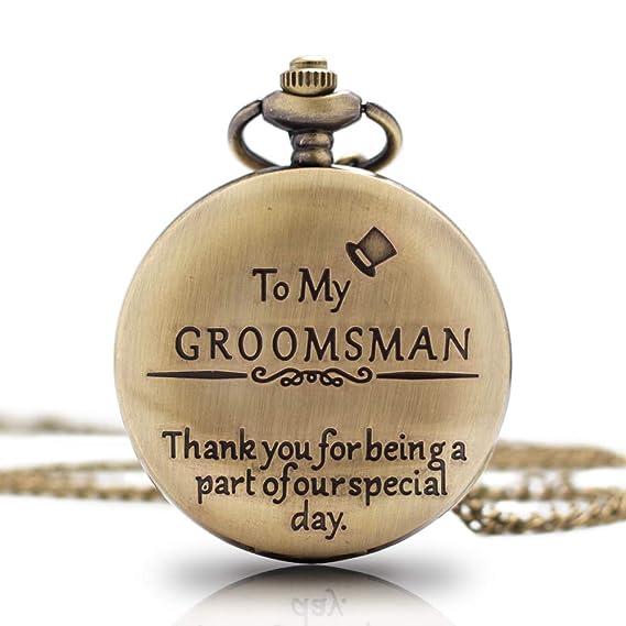 c886e9ef18dd6 1x Groomsman Gifts for Wedding|Best Man Pocket Watch| Engraved Best Man Pocket  Watch