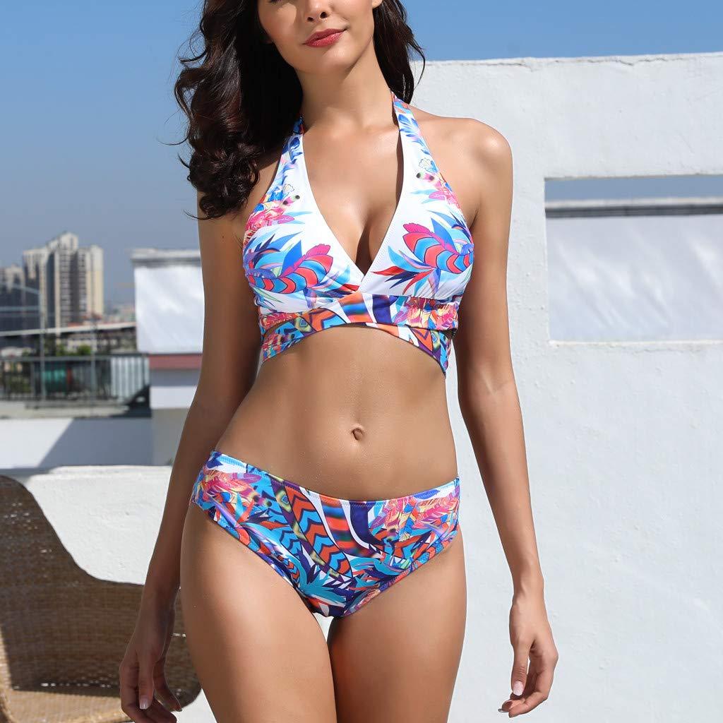 ASHOP ba/ñador Natacion 2019 Bikini brasile/ño Push up Tankinis Mujer con Aros Traje de ba/ño Verde Agua Monokini Manga Larga