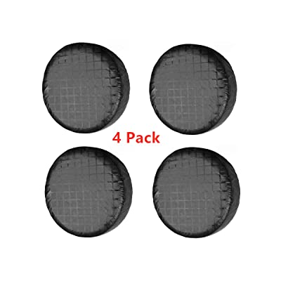 Tire Covers Set of 4, Fits 27-29 Inch Tire Diameter L,Waterproof Aluminum Film Tire Sun Protectors for Rv Travel Trailer Camper Vinyl Wheel (Black Aluminum Film Tire Sun Protectors Tire Covers): Automotive [5Bkhe0405047]
