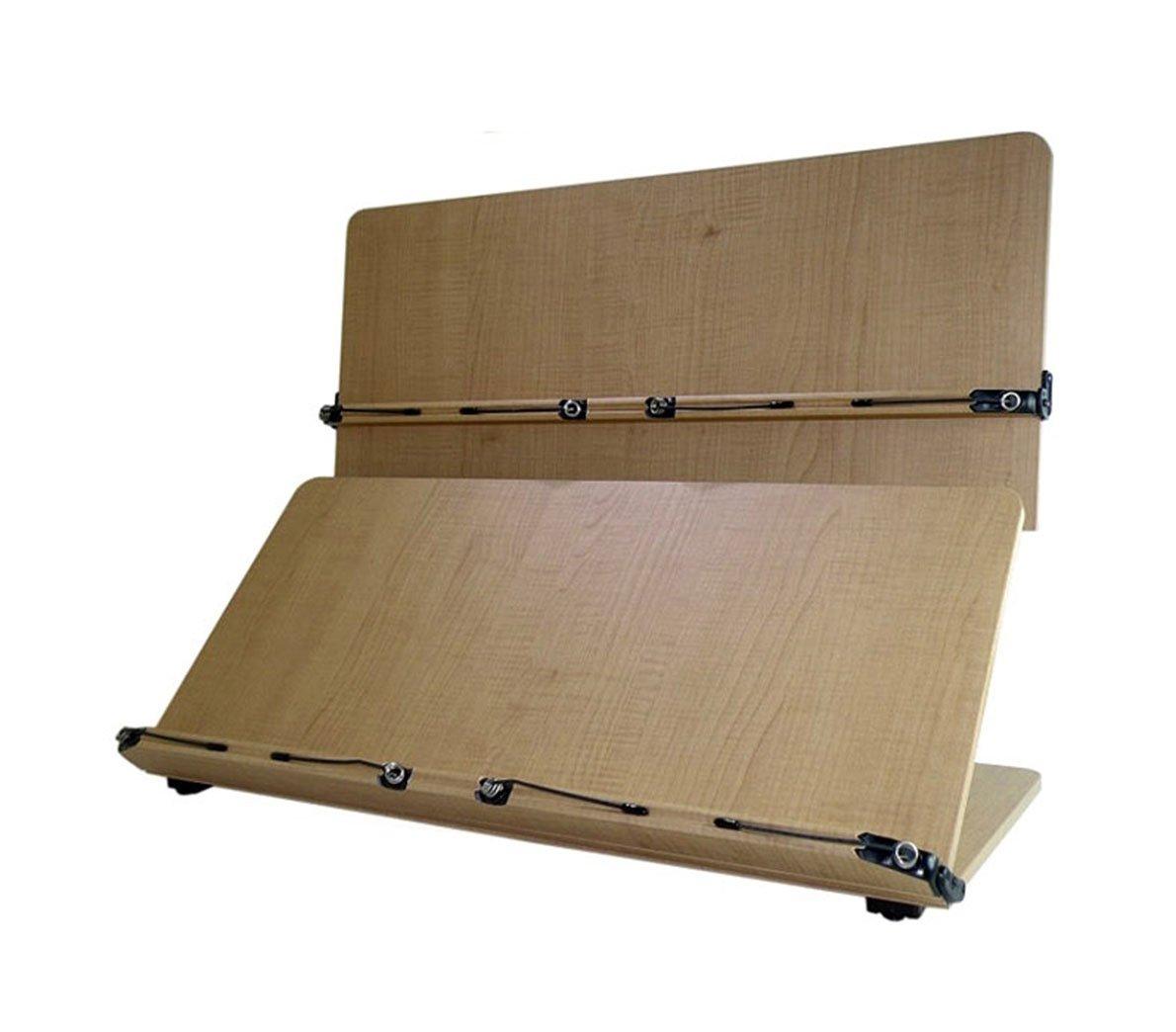 Book Stand Holder Reading Desk Desktop Book Stands Office Supplies 2nd Stage Wood MDF W 23.8''