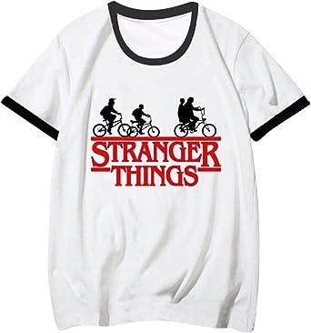 Camiseta Stranger Things Mujer, Ringer T Shirt Retro tee Camiseta Stranger Things Manga Corta Abecedario Impresión T-Shirt Friends Dont Lie Regalo Camisa Verano Niña Camisetas y Tops: Amazon.es: Ropa y accesorios