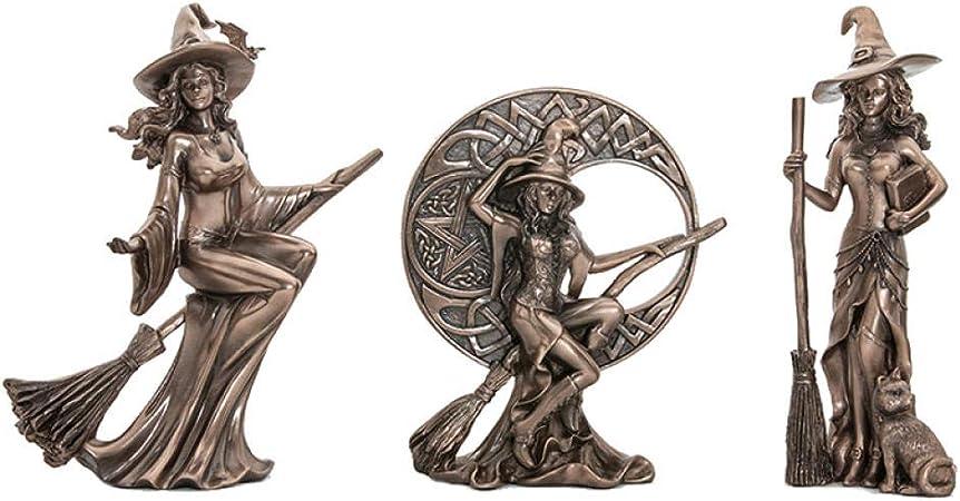 GHFT Estatuas Estatuas para jardín Bruja Estatua Manualidades Adornos Escritorio niños habitación decoración jardín Escultura: Amazon.es: Hogar