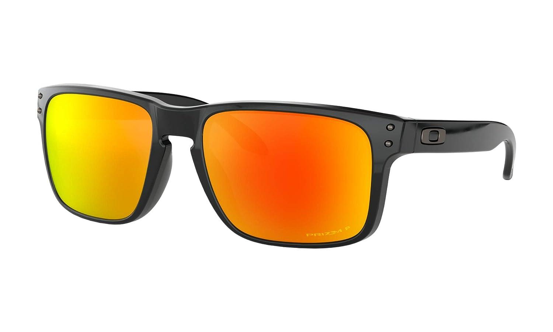 Oakley Holbrook サングラス ポリッシュブラック プリズムルビー偏光レンズ+ステッカー